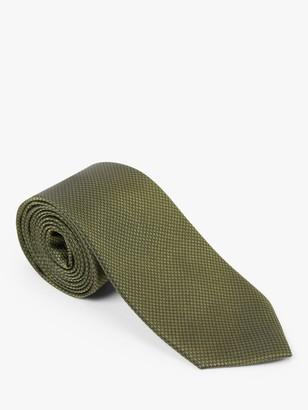 John Lewis & Partners Plain Silk Textured Weave Tie