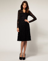 ASOS Lace Midi Dress with Scalloped Neck