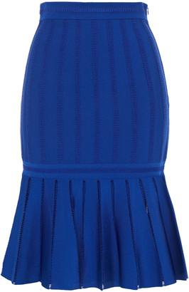 Alexander McQueen Fluted Jacquard-knit Skirt