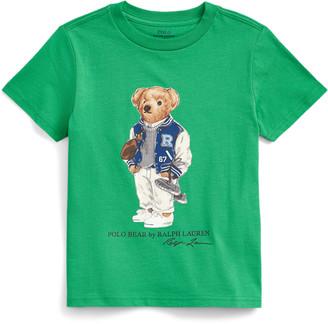 Ralph Lauren Football Bear Cotton Tee