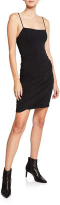 Alexander Wang Twisted Cami Spaghetti-Strap Crepe Jersey Dress