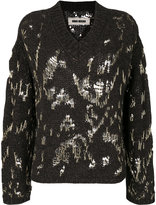 Uma Wang V-neck over knit sweater