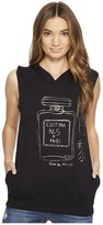 Custom Ketchup - Perfume Gunmetal Foil on Sleeveless Hoodie Women's Clothing