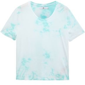 7 For All Mankind Tie-dye Cotton-jersey T-shirt