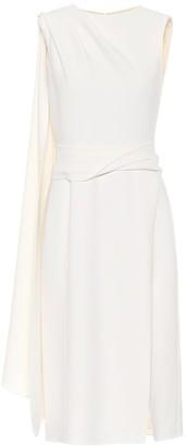Stretch-wool midi dress