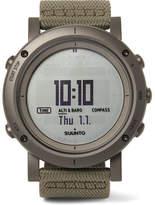 Suunto Essential Stainless Steel And Webbing Digital Watch