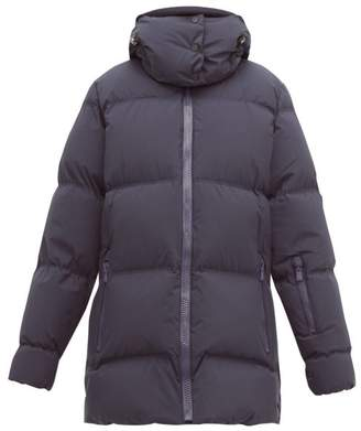 Aztech Mountain Elk Quilted Down Jacket - Womens - Navy