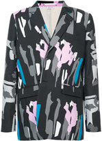 Comme des Garcons printed single-breasted blazer