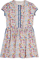 Fendi Painterly Logo-Print Soft Crepe Dress