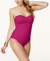 Anne Cole Twist-Front Bandeau One-Piece Swimsuit