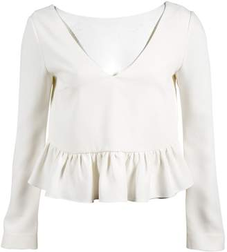 Elizabeth and James White Polyester Tops