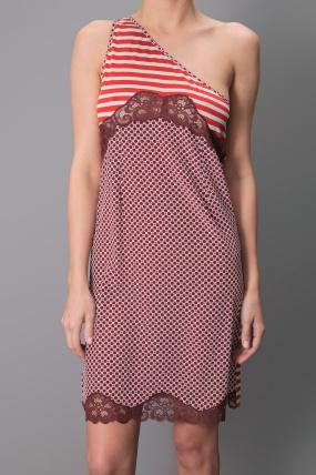 Stella McCartney One Shoulder Dress Red
