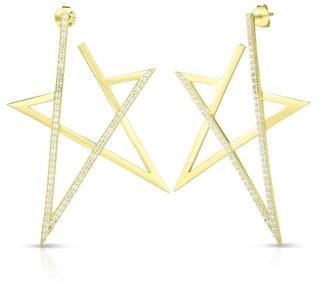 Sphera Milano 14K Gold Vermeil CZ Star Earrings