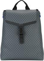 Emporio Armani logo print backpack - men - Polyurethane/Polyamide - One Size