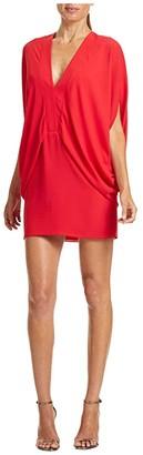 Halston Drapey Kimono Dress (Summer Red) Women's Clothing