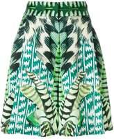 Temperley London garden leaf printed shorts