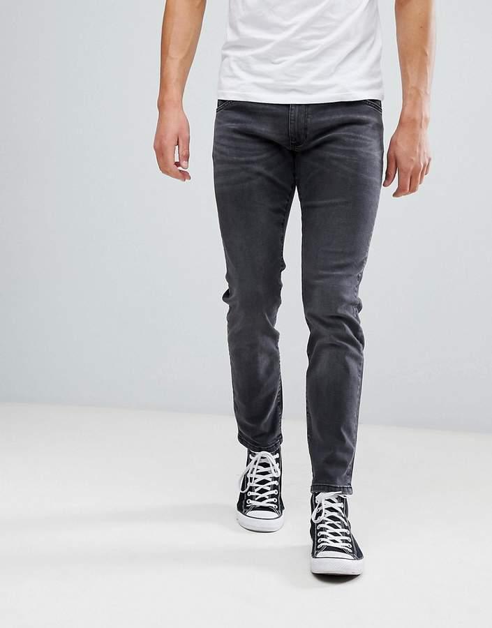 Wrangler Skinny Jeans in Washed Black