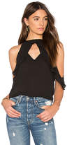 Krisa Ruffle Halter Top in Black. - size M (also in S,XS)