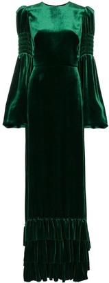 The Vampire's Wife ruffle hem maxi dress