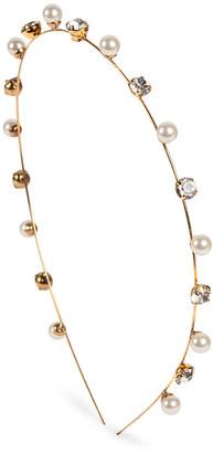Jennifer Behr Ines Crystal and Pearl-Embellished Headband