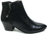 Diba Black Oh Sage Leather Bootie