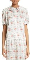 Women's Shrimps Theodora Silk Pajama Blouse