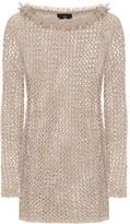 Alanui Dune cotton and silk-knit minidress