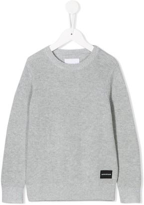 Calvin Klein Kids Logo Patch Sweater