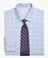 Brooks Brothers Non-Iron Regent Fit Two-Tone Glen Plaid Dress Shirt