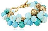 """Carolee The Blue Line"""" The Blue Line Cluster Bracelet"""