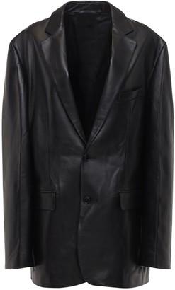 Vetements Over Lamb Leather Jacket