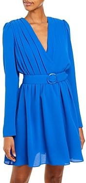 Aqua Pleated Crepe Dress - 100% Exclusive