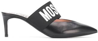 Moschino Logo Strap Mules