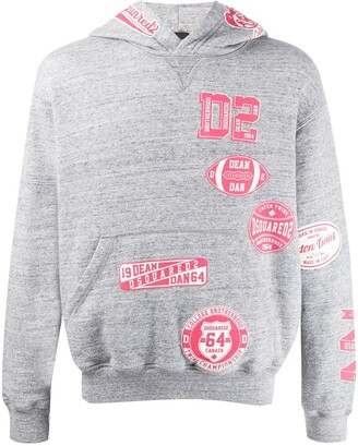 DSQUARED2 Brotherhood-print hooded sweatshirt