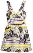 H&M Patterned Dress - Natural white/leaf - Ladies