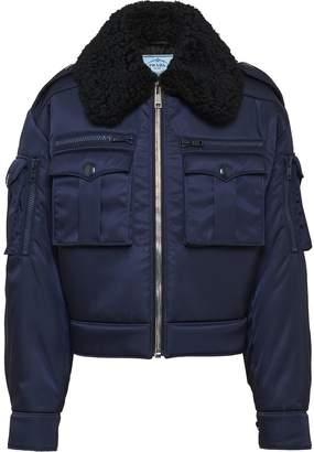 Prada gabardine bomber jacket