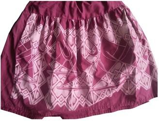 No Name Burgundy Cotton Skirt for Women Vintage