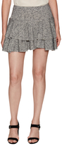 Derek Lam 10 Crosby Cotton Gathered Mini Skirt