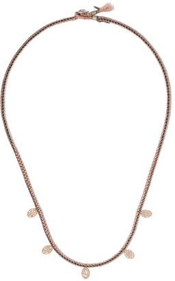 Brooke Gregson 14kt Rose Gold 5 Diamond Disc Necklace