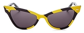 Moschino Striped Cat Eye Sunglasses, 53mm