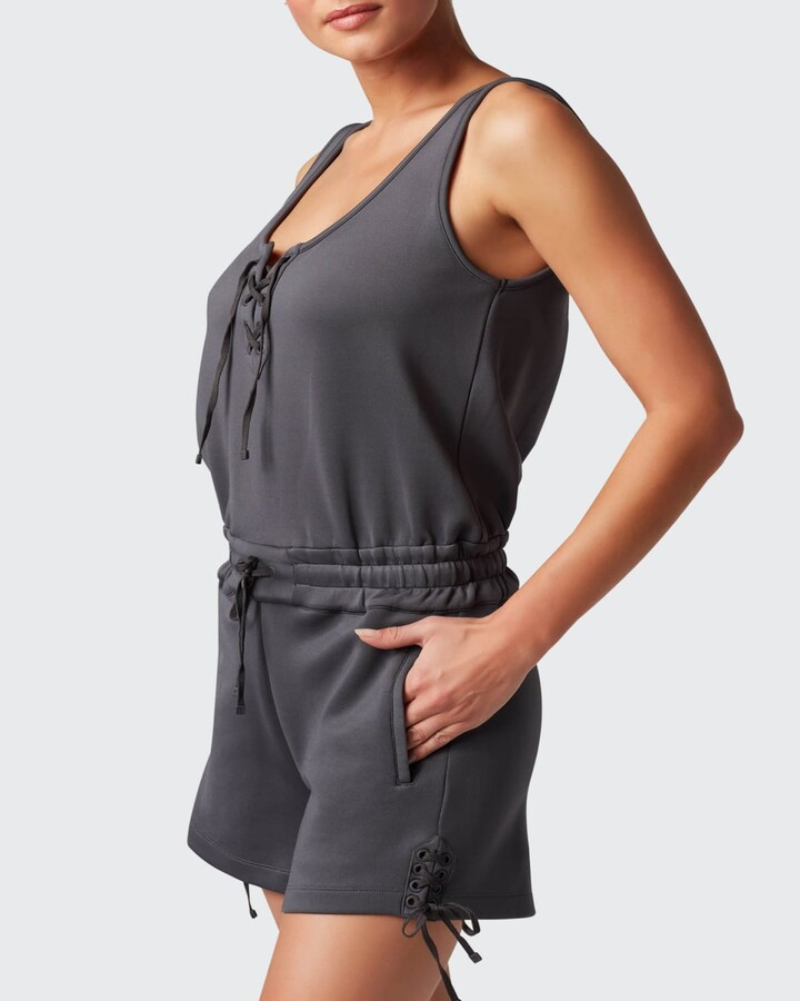 Thumbnail for your product : Blanc Noir Lace-Up Romper