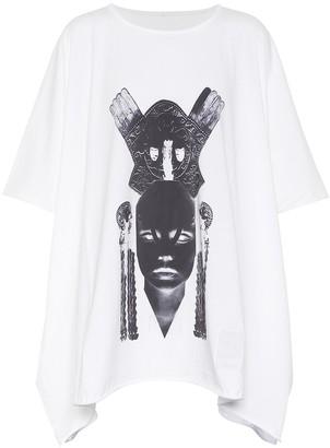 Rick Owens DRKSHDW draped cotton T-shirt