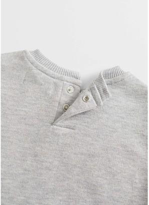 MANGO Baby Boys Go Faster Embossed Slogan Sweatshirt