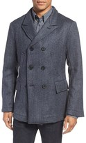 Billy Reid Men's 'Bond' Herringbone Wool Blend Peacoat