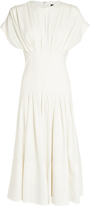 Proenza Schouler Textured Crepe Fitted Waist Dress