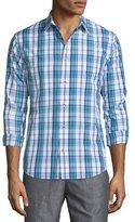 Vince Plaid Long-Sleeve Sport Shirt, Navy