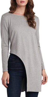 Vince Camuto High/Low Cutout Long Sleeve Tunic