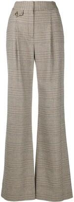 Veronica Beard Herringbone Flared Trousers