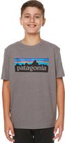 Patagonia Boys P-6 Logo Tee Grey
