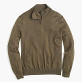 J.Crew Slim merino wool half-zip sweater